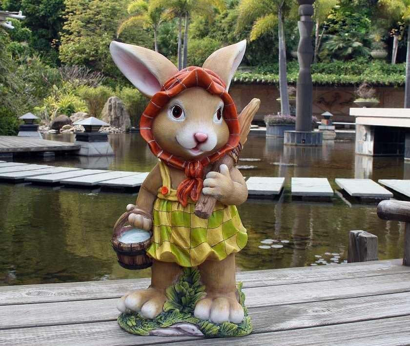 Bunny diseño 2 XXL 45 cm Jardín Jardín GNOME figura decorativa decoración 91102-2