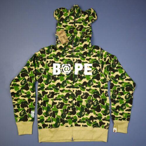 2xl Full Be Abc Xl 100 Hoodie Bearbrick auténtico Bape rbrick Zip Tamaño Zpxvqw