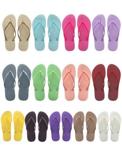 Rose... Havaianas Slim Brazil Women/'s Flip-Flops All Sizes: Gold Silver Cafe