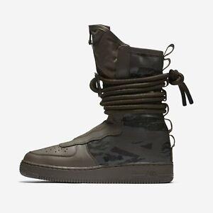 sale retailer 77fa3 b8aa9 Men's Nike SF Air Force 1 High Boots Ridgerock Black Sequoia Size 10 ...