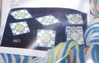 Design Works Mosaic Coasters Plastic Canvas Kit 6 Coasters