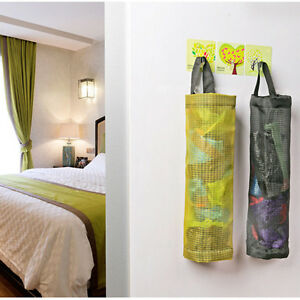 Plastic-Grocery-Bag-Holder-Storage-Dispenser-Wall-Mount-Kitchen-Home-Organizer