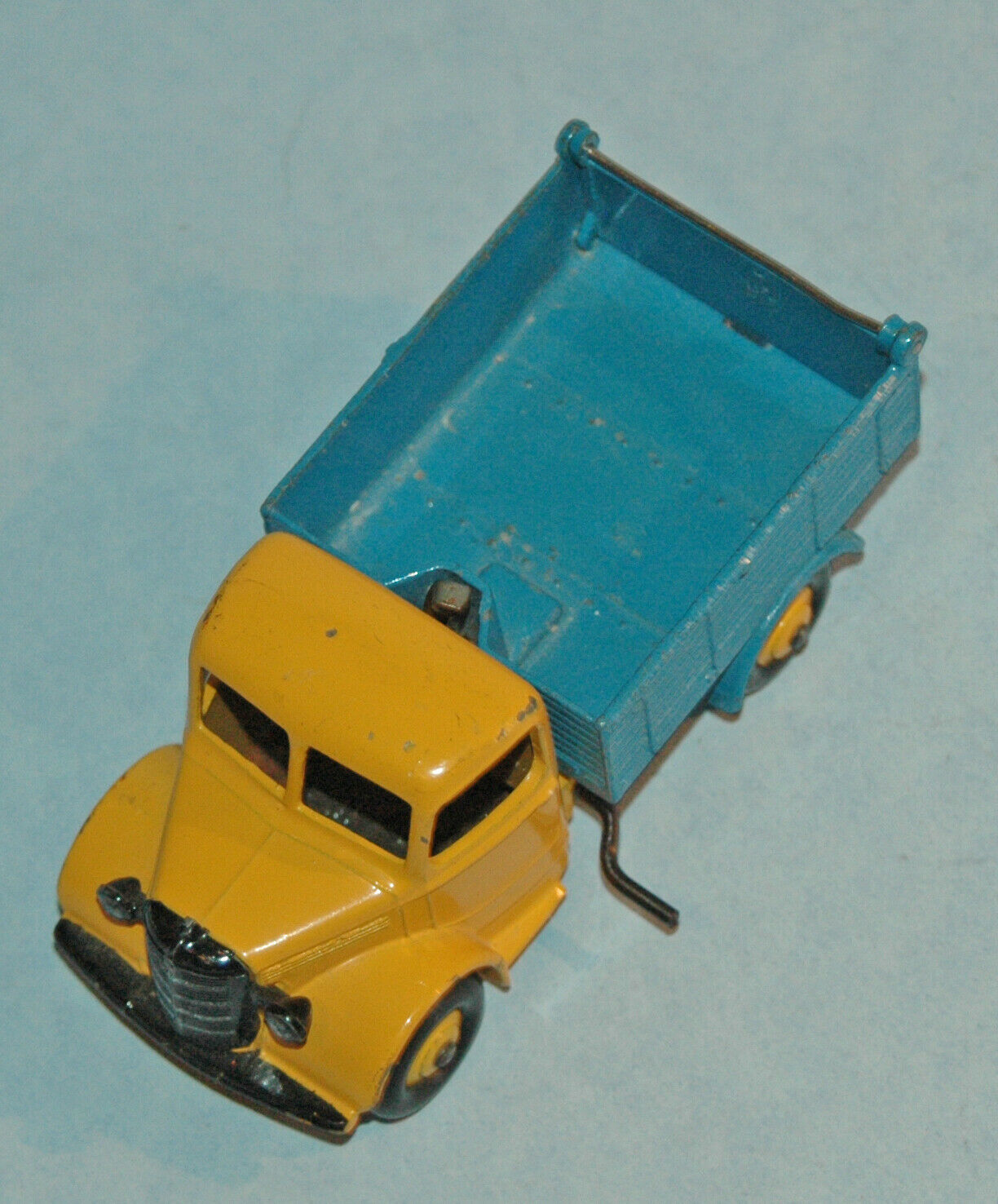 DINKY Meccano England 1948 original m (410) BEDFORD END TIPPER  yellow bluee