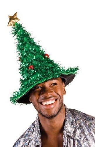Signore Mens Large DIVERTENTE Albero di Natale Costume Vestito Accessorio Cappello