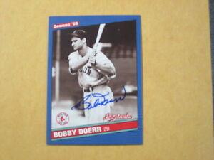 2002 DONRUSS 1986 ORIGINALS BOBBY DOERR SIGNED AUTOGRAPHED CARD - HOF