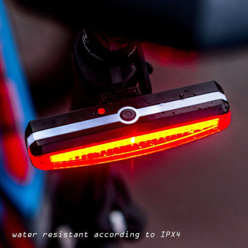 1xUltra Bright Bike Light USB Rechargeable Bicycle Tail Light High Intensity