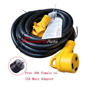 30 Foot 30 Amp Rv Extension Power Cord 100 Copper Wires