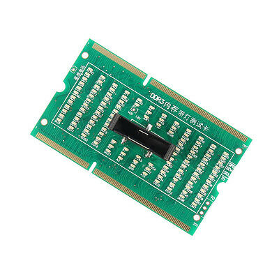 DDR3 Memory Slot Tester Card with LED Light for Laptop Motherboard Notebook