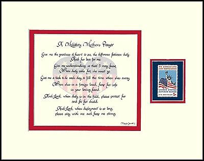 for Military Daughter MILITARY MOTHER/'S PRAYER ST072