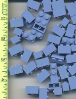 Lego X 50 Medium Blue Brick 1 X 2 Bulk Lot