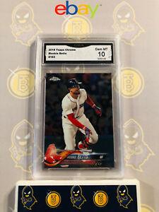 2018-Topps-Chrome-Mookie-Betts-183-10-GEM-MINT-GMA-Graded-Baseball-Card