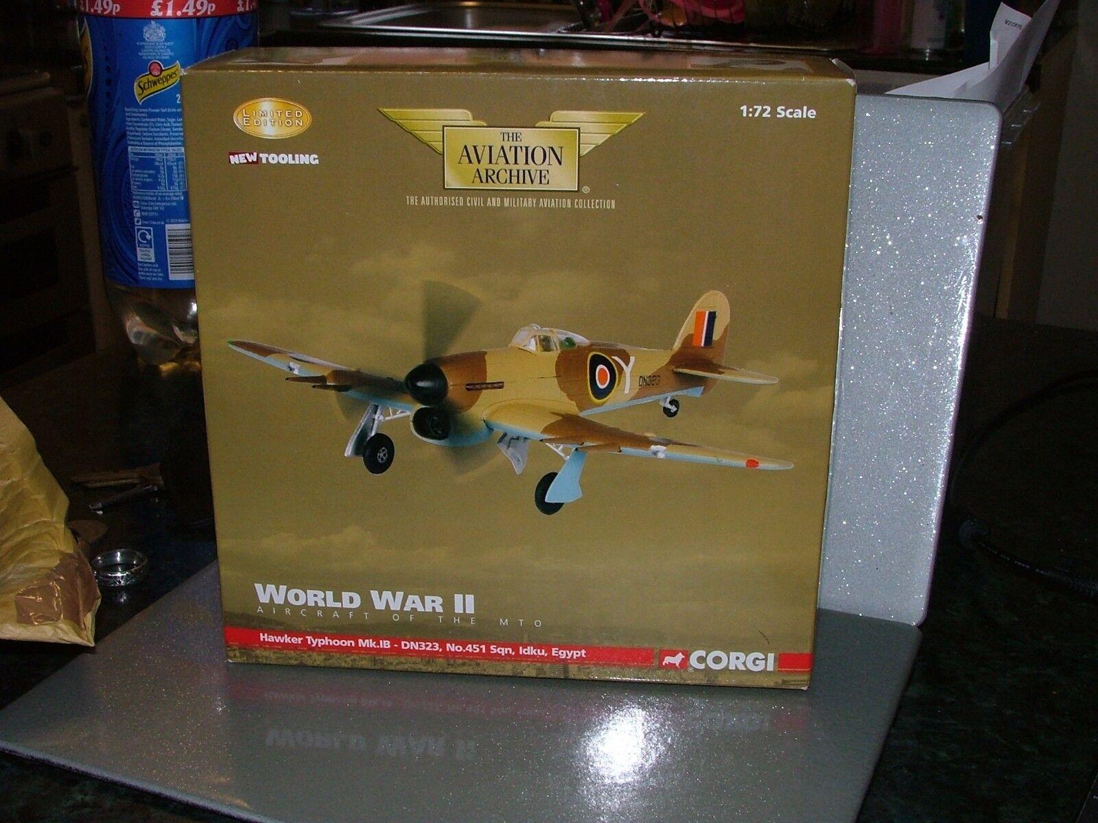 tienda de ventas outlet Corgi Aviation 1 72 Hawker Hawker Hawker Typhoon Mk. ib DN323 AA36501 Ltd Ed no5 4880  precios razonables