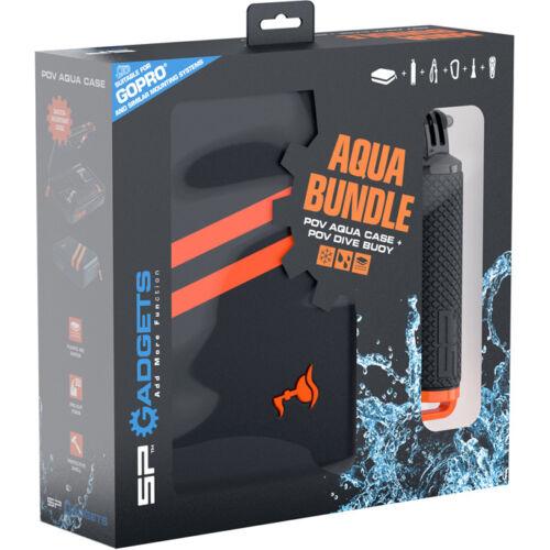Sp Gadgets Aqua Bundle-Pov Buceo Boya Flotador /& Pov Aqua almacenamiento Funda Para Gopro