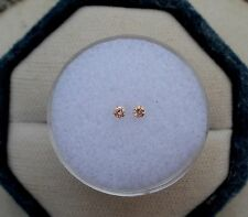 Pink Champagne Diamond Round Pair 2mm SI Quality