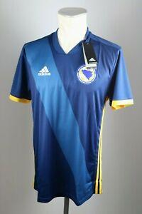 Bosnien-amp-Herzegowina-Trikot-Gr-M-2018-2019-Home-Adidas-blau-Neu-Bosnia
