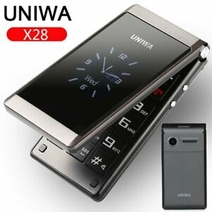 Unlocked-UNIWA-2-8-034-Folding-Flip-Dual-Sim-Free-Basic-Simple-Mobile-Phone-FM-SOS