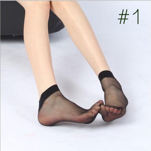 Damenmode Spitze Kristallglas Seide Kurze Dünne Transparente Rosen Socken O8U3