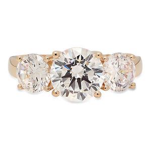 3-15ct-Round-Anniversary-Engagement-Bridal-Solitaire-3Stone-Ring-14K-Yellow-Gold
