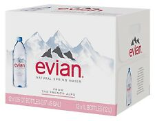 Evian Natural Spring Water 1L 12 pk Great for Convenience Store Office Use