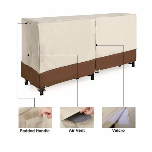 4ft 8ft LOG COVER RACK Heavy Duty Outdoor Waterproof Firewood Storage Protection