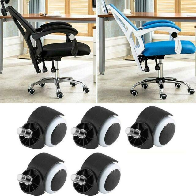 5 Pcs Office Chair Wheels Casters Universal Fit Set of 5