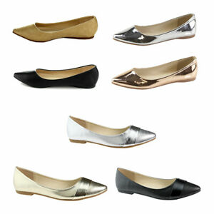Women-039-s-Slip-on-Pointy-Toe-Patent-Leather-Ballet-Shoes-Boat-Shoes-Classic-Flats