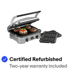 Cuisinart GR-4N Stainless Steel Griddler with Waffle Attachment