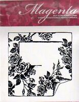 Magenta Rubber Stamp Cling Rose Garden Frame Slide Elegant Free Usa Ship