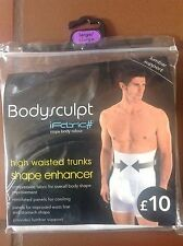 MENS BODYSCULPT HIGH WAISTED TRUNKS SHAPE ENHANCER LUMBAR SUPPORT LARGE/XLARGE