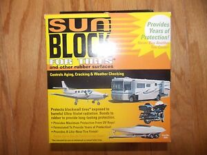 Sun Block For Tires, Treats 6 Trailer Size Tires