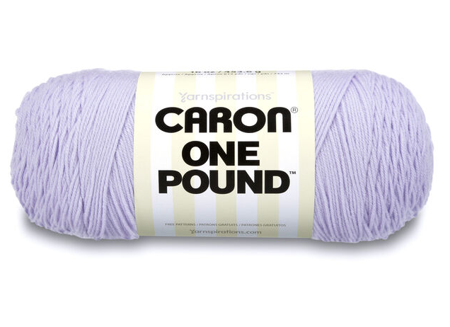 Yarnspirations Caron One Pound (Lilac) 812 Yards Yarn Knit Crochet, 16 OZ