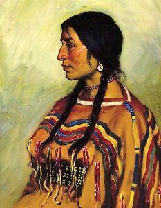 METAL REFRIGERATOR MAGNET Blackfoot Woman Native American Indian