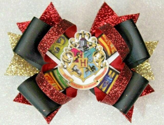 Harry Potter Crest Hogwarts Hair Bow