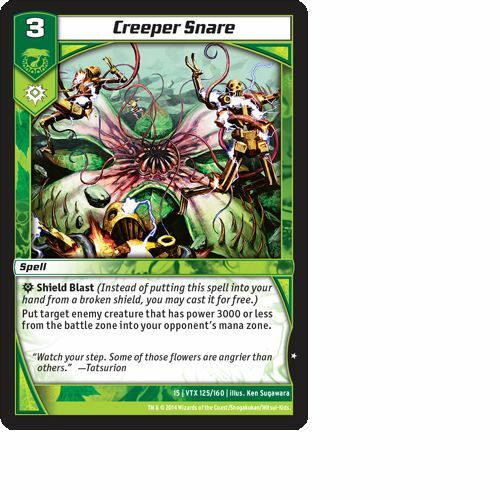 Kaijudo X3 CREEPER SNARE Common #125/160 15VTX (Playset) Vortex DUEL MASTERS