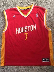 Adidas Men s Jeremy Lin Houston Rockets  7 Red Jersey Sz Mens EUC ... 3643cc1eb