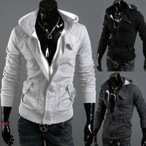 CA Fashion New Mens Casual Hoodie Sweatshirt Hooded Zipper Coat Top Size M-3XL