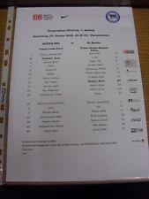 23/10/2008 Colour Teamsheet: Hertha Berlin v Benfica [UEFA Cup] (folded). Footy