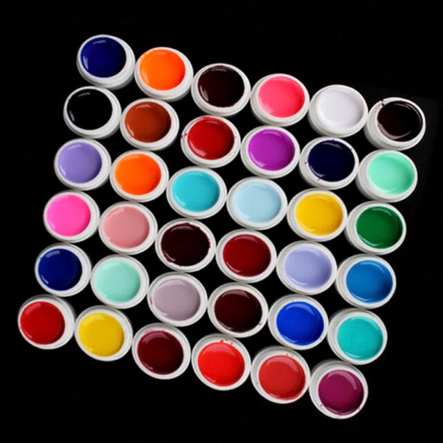 New 36 Mix Colors Pots Pure UV Gel Builder For DIY Polish Nail Art Tips Manicure
