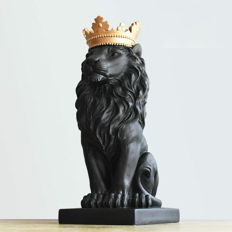 Decoration Lion Crown Modern Nordic Decor Sculpture Room ...