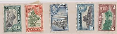 1938 Ceylon Mix Of 10 Kgv 3c To 50c Mint Crazy Price Stamps lt19