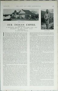 1902-PRINT-INDIAN-EMPIRE-NAVY-amp-ARMY-ARTICLE-FIRING-SALUTE-SIKH-SEPOY