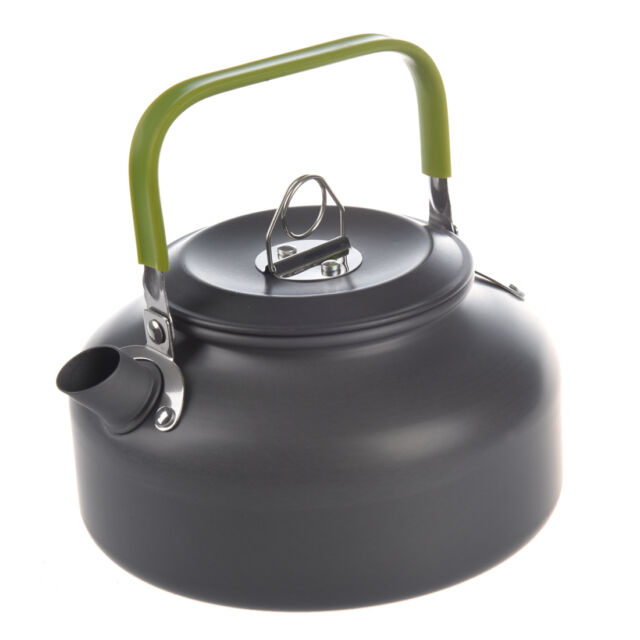 0.8L Portable Outdoor Hiking Camping Survival Water Kettle Teapot Coffee Pot N4O