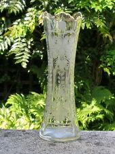 VICTORIAN ENGLISH STOURBRIDGE FRENCH BACCARAT GLASS HAND ENGRAVED VASE