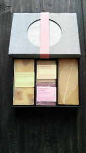 Light grey amp pale pink stripe Silk Box4 tropical scented soapsMother039s Day - London, United Kingdom - Light grey amp pale pink stripe Silk Box4 tropical scented soapsMother039s Day - London, United Kingdom