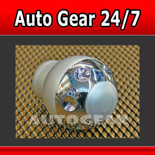 MOS Silver Alloy Aluminium Car Gear Knob