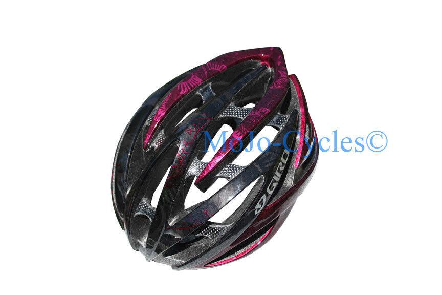 Giro Atmos Casco de Bicicleta 59-63cm Grande Rhone Flores Negro Nuevo En Caja