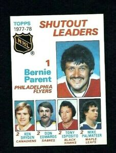 NM 1978 Topps #70 Shutout Leaders with Parent, Dryden, Esposito.