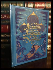 Aladdin-amp-the-Arabian-Nights-New-Sealed-Leather-Bound-Illustrated-Gift-Hardback