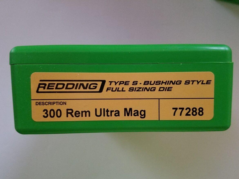 77288 rojoDING Tipo S Buje De Longitud Completa De Tamaño Die - 300 REM Ultra Artes Marciales Engranaje RUM Nuevo