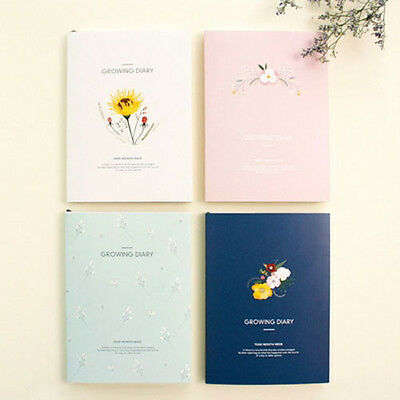 [Growing Diary] Diary Scheduler Book Journal Monthly Weekly Planner 4 Colors
